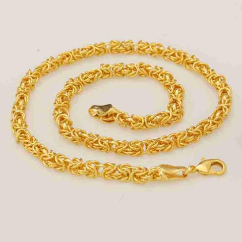 Trendy & Fancy Men Gold-plated Plated Metal Chain