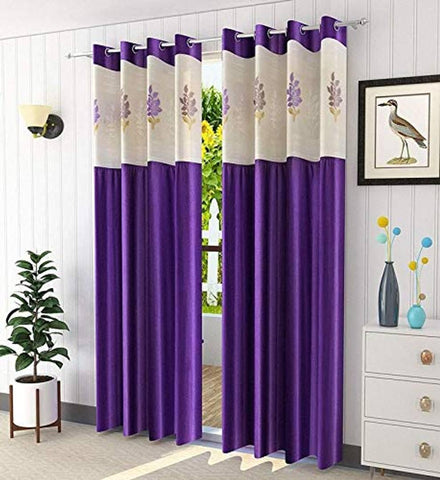 Cruze net patch Curtains Set of 2 - Trend Eve
