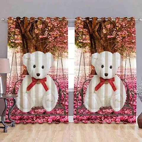 Digital Printed Polyester Blend Eyelet Curtain for Door || Pack of 2 || - Trend Eve