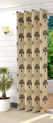 Tree Design Soft Digital Print Door Curtains 9 Feet Set Of 1 Door Curtains Combo Set Of High Quality Print Design For Home Furnishing Office Living Room Area Decoration - Trend Eve