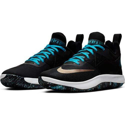 Nike Men's Fly.by Low Ii Black/Blue/White Basketball Shoes-7 UK (41 EU) (8 US) (AJ5902-003) | Trend Eve