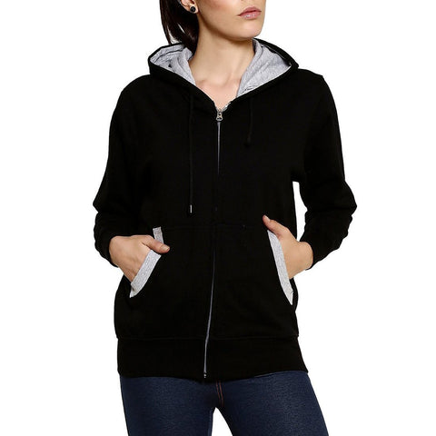 GOODTRY Women's Cotton Hoodies-Black - Trend Eve