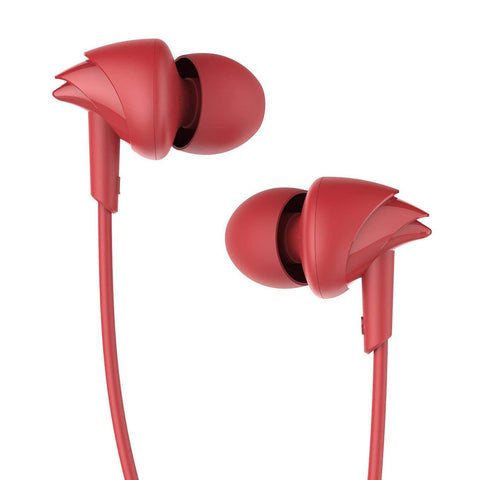 boAt BassHeads 100 Hawk Inspired Earphones with Mic (Furious Red) - Trend Eve