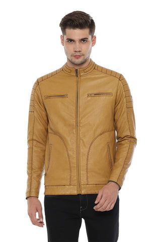 Allen Solly Men's Jacket (ALJKARGF329946_Yellow_M) - Trend Eve