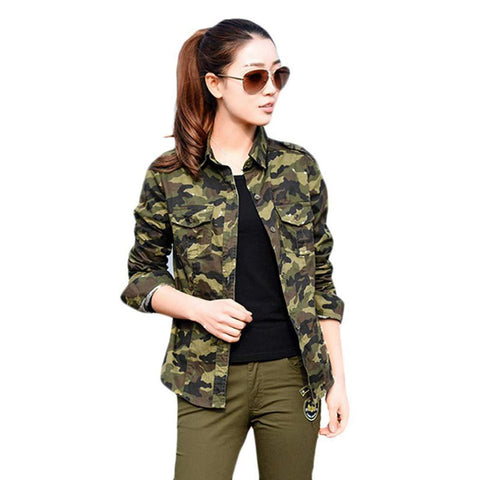 ItkiUtki Girl's & Women's Military Camouflage Casual Multicolor Army Shirt (Medium) - Trend Eve