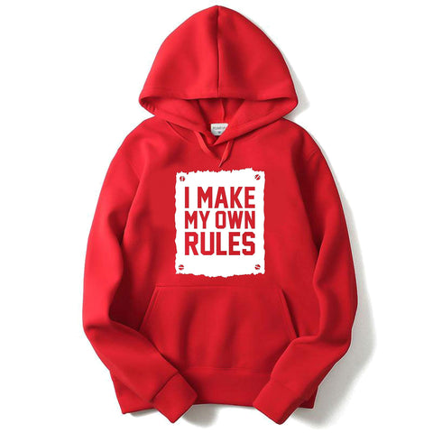 RED HoodieMake My OWN Rules - Trend Eve