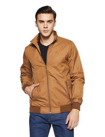 Allen Solly Men's Jacket (ASJKOBOPZ49688_Light Brown_M) - Trend Eve