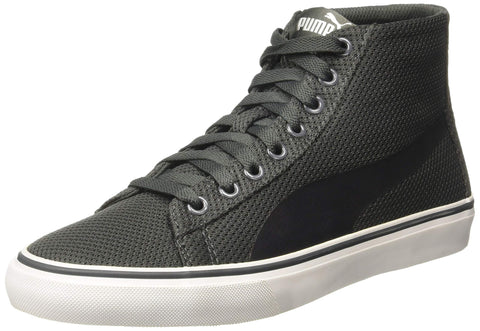 Puma Men's Troop Mid Knit Idp Dark Shadow and White Sneakers-9 UK/India (43 EU) (36852902) | Trend Eve