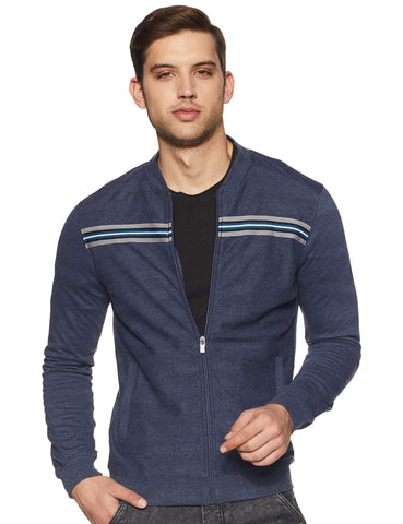 Allen Solly Men's Sweatshirt (ASSTWRGHL86234_Navy_M) - Trend Eve