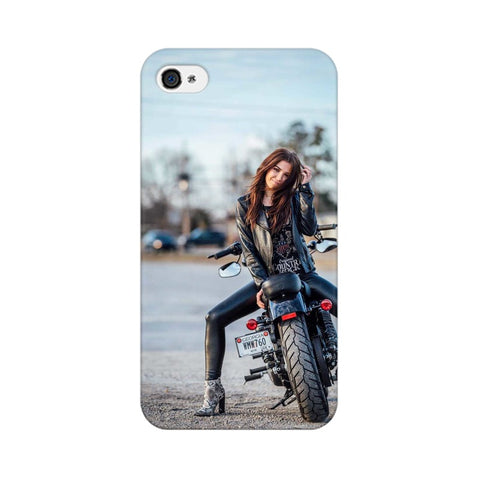 Girl on Bike Apple Mobile Cover - Trend Eve