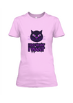 Angry Cat Cotton T-Shirt For Girls - Trend Eve