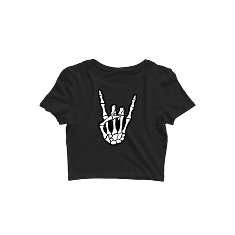 Skull Hand Crop Top - Trend Eve