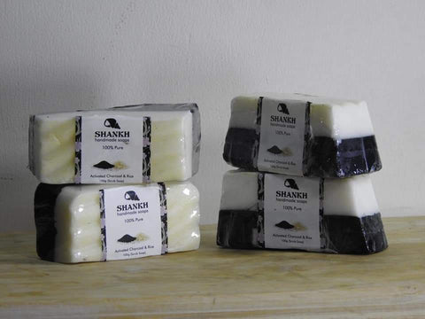 Activated Charcoal & Rice Flour (Hand Made Soap) - Trend Eve