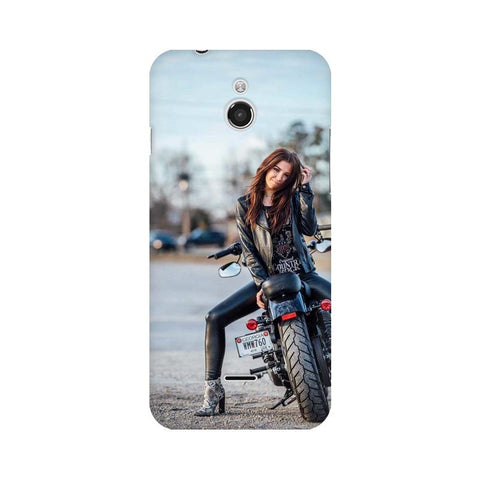 Biker Girl InFocus Mobile Cover - Trend Eve