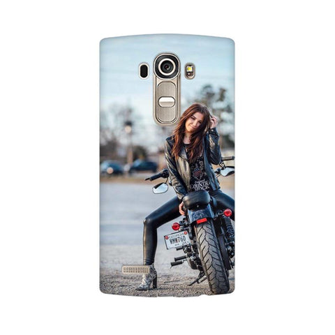 Biker Girl LG Mobile Cover - Trend Eve
