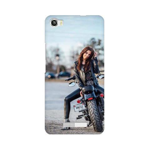 Biker Girl Calling LAVA Mobile Cover - Trend Eve