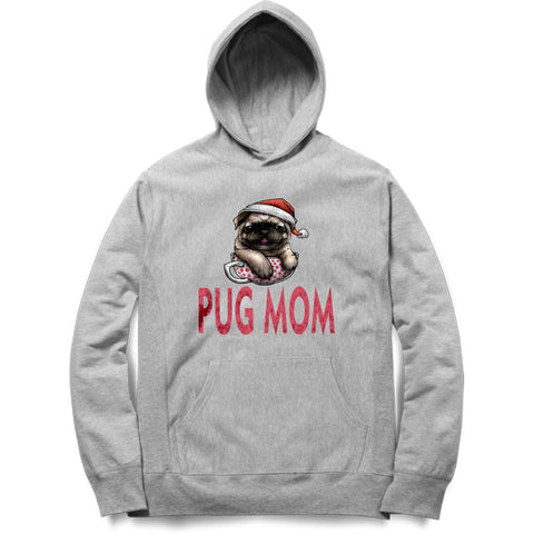 Pug Mom Black & Grey Hoodie - Trend Eve