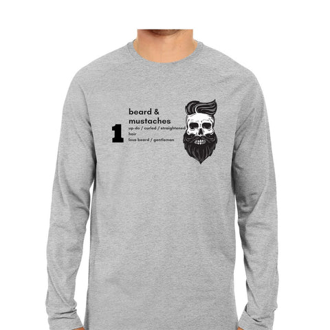 Beard T-Shirt Full Sleeve - Trend Eve