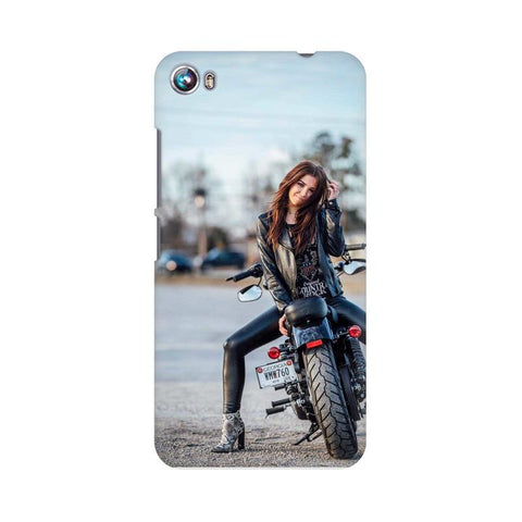 Biker Girl Micromax Mobile Cover - Trend Eve