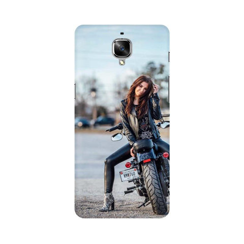Biker Girl OnePlus Mobile Cover - Trend Eve