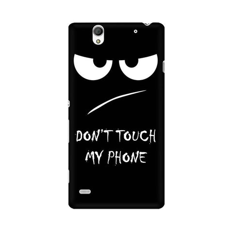 Don't Touch My Phone Sony Mobile Cover - Trend Eve