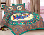 Green Rajasthani Bed Sheet - Trend Eve