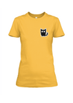 Black Cat Cotton T-Shirt For Girls - Trend Eve