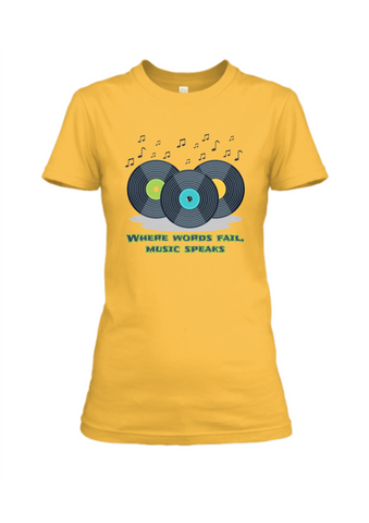 Where Words Fail Music Speaks T-Shirt - Trend Eve
