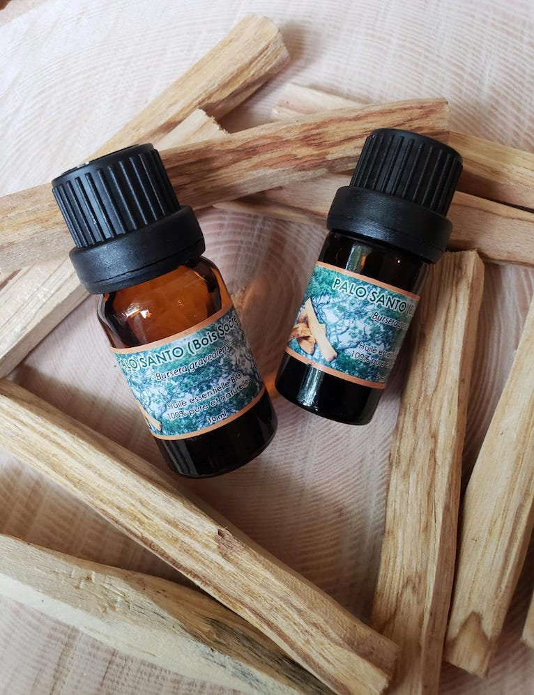 South American Palo Santo 100% Pure Essential Oil Sustainably Harvested