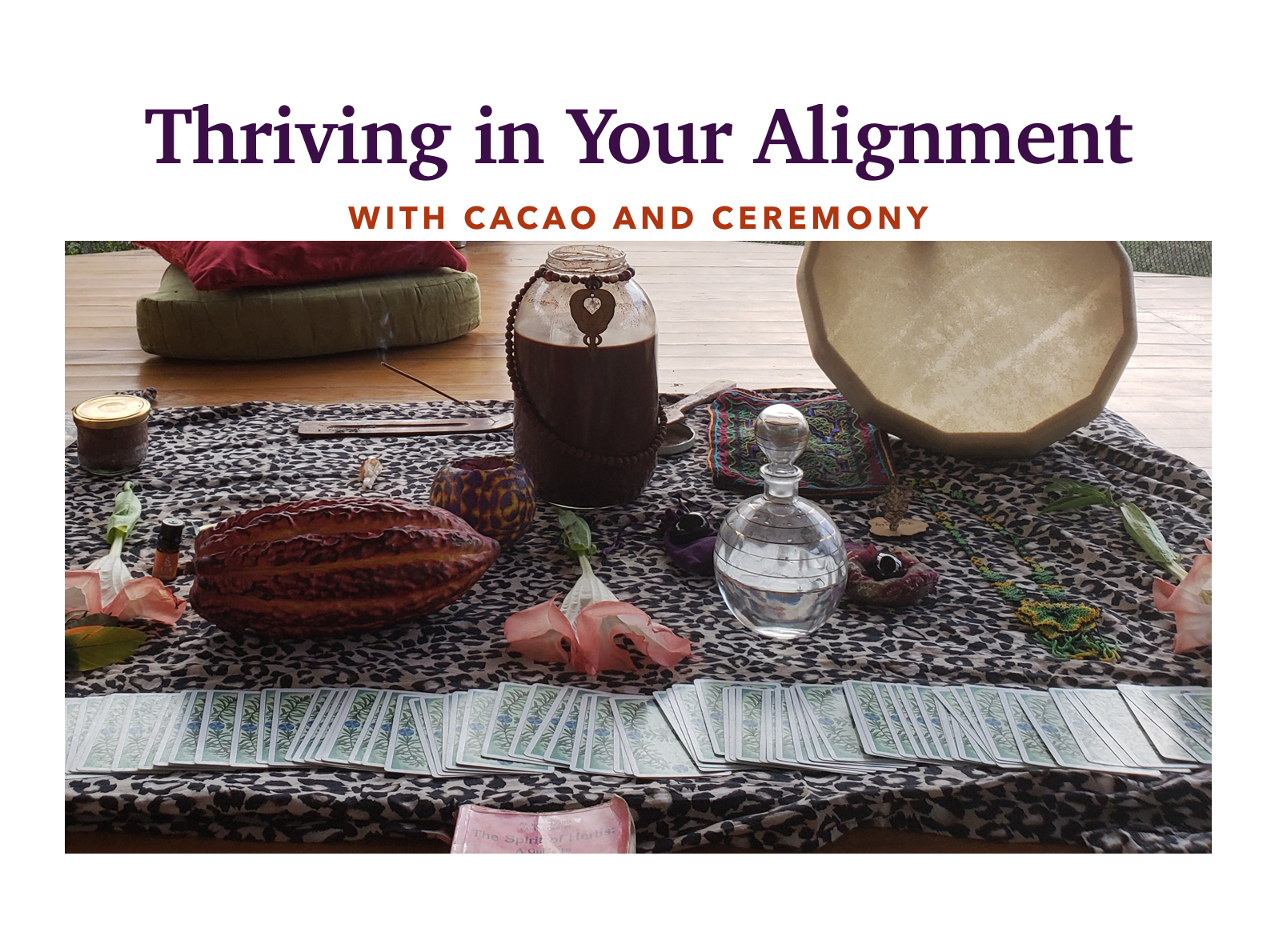 Thriving In Your Alignment with Cacao & Ceremony - Contact us for Dates