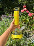 12inch Yellow Plaid Bong Bongs Owl Pack