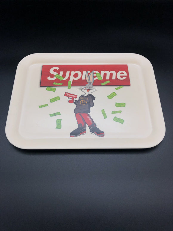 Hype Beast Bunny Bamboo Rolling Tray Rolling Trays Space Smoke Shop