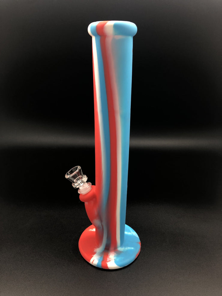 14inch BREAKPROOF Silicone Straight Tube Bong Bongs Space Smoke Shop
