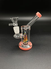 5inch Mini Cone Bong Bongs Space Smoke Shop Pink