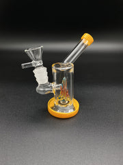 5inch Mini Cone Bong Bongs Space Smoke Shop Yellow