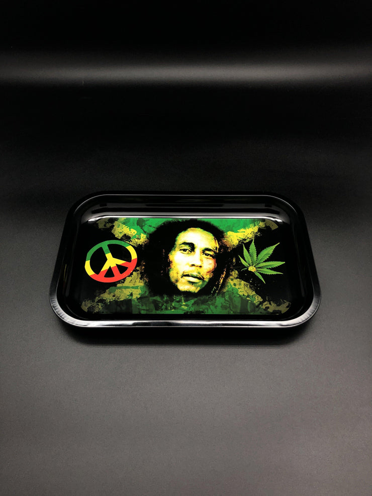 Marley Rastaman Aluminum Rolling Tray Rolling Trays Space Smoke Shop