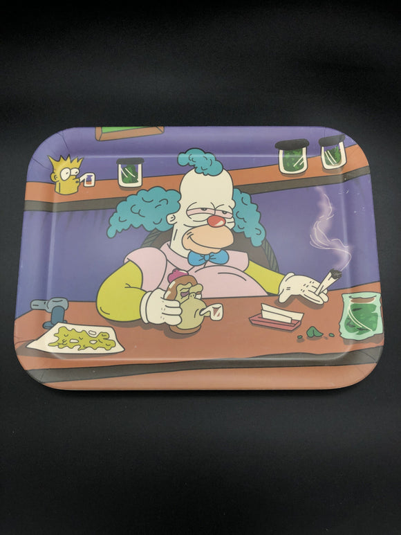Zooted Clown Bamboo Rolling Tray