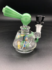 6inch R&M Percolator Bong Bongs Space Smoke Shop Green