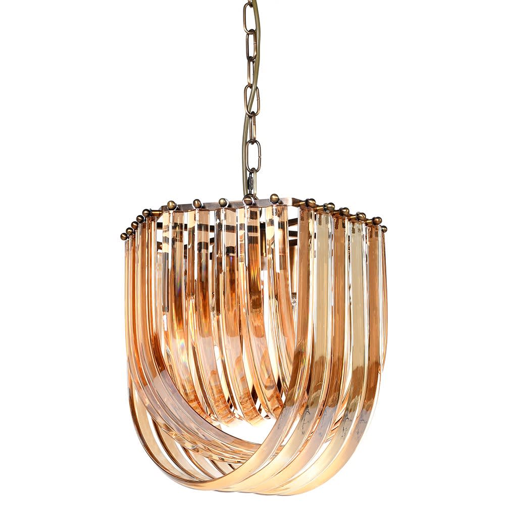 Amber Brass Pendant Light