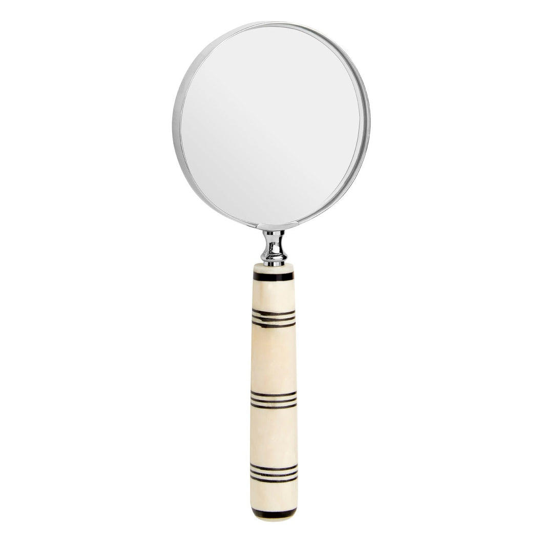 Cream/Black Stripe Magnifying Glass