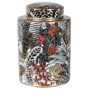 Leaf Print Lidded Jar
