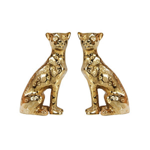 Leopard Candle Holders Brass