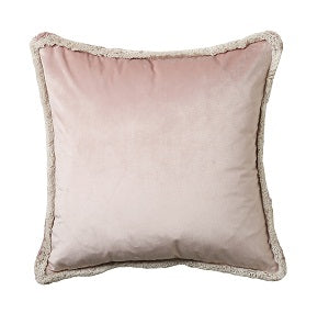 Pink & Taupe Velvet Scatter Cushion