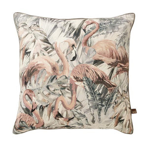 Flamingo Cushion Grey & Pink