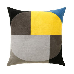 Zodiac Ocre Grey Cushion