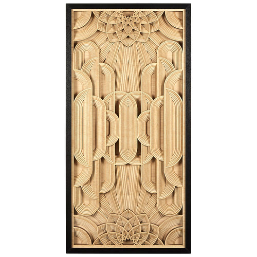 Modello Deco Wood Carving Wall Art