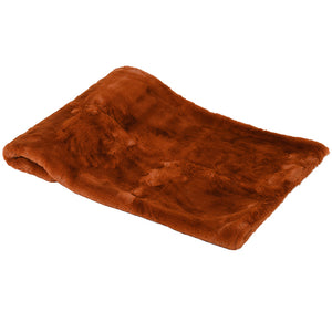 Burnt Amber Faux Fur Throw