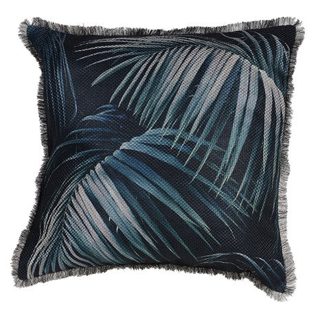 Tropical Palm Leaf Cushion Cover
