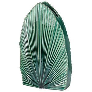 Green Fan Palm Vase