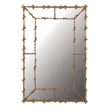 Load image into Gallery viewer, Large Oak Leaves Gilt Mirror